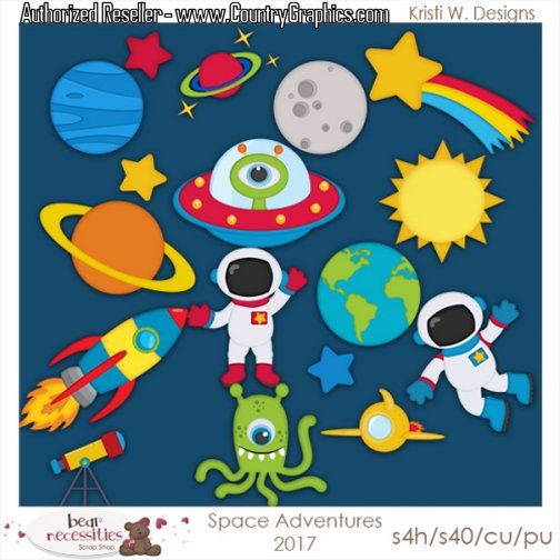 clip art stock Outer clipart. Space set