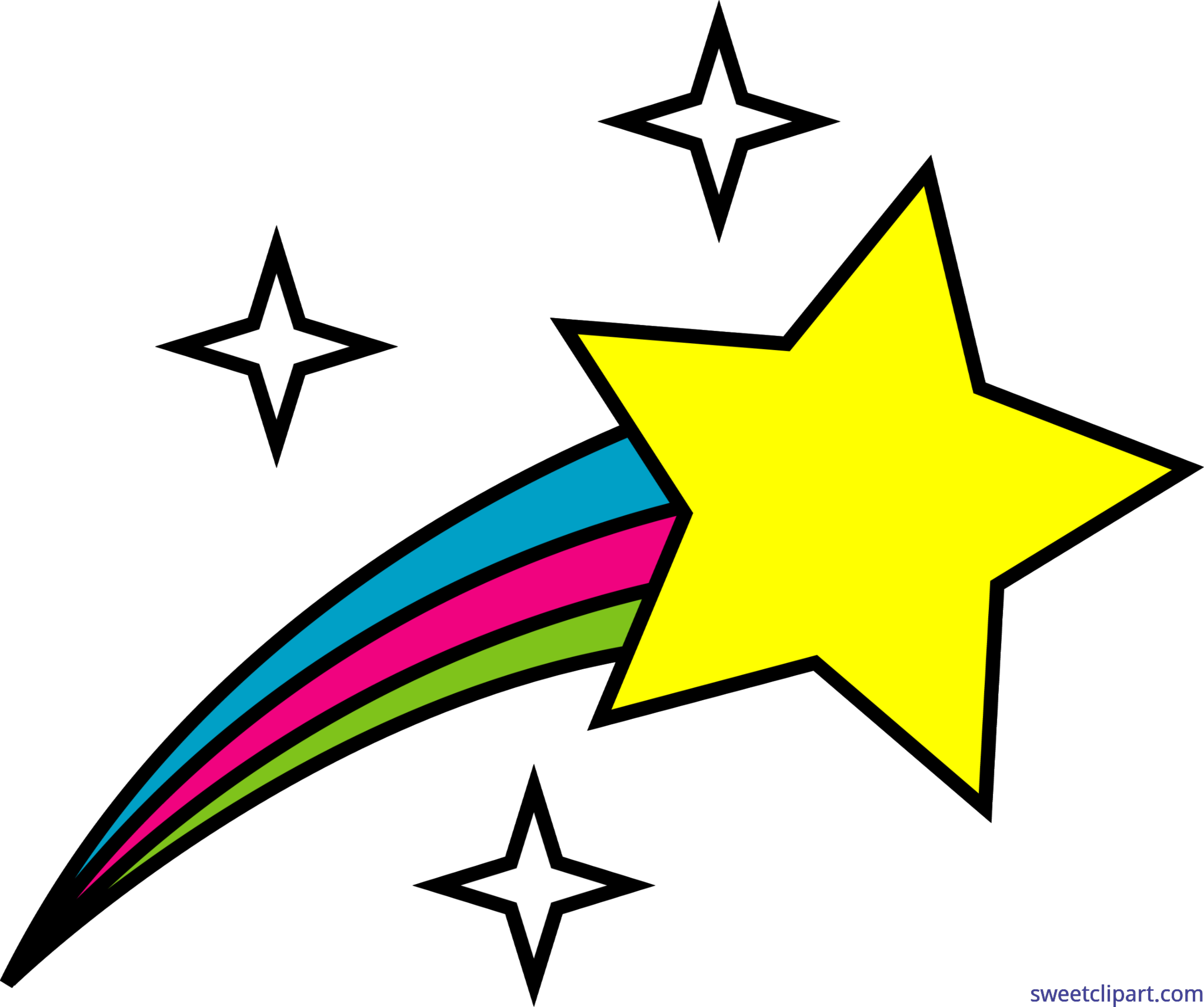 clipart royalty free Space symbol shooting star. Outer clipart