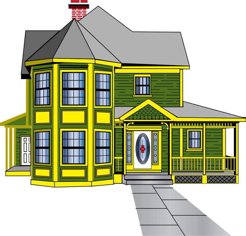 clip freeuse Buying house cliparts zone. Outer clipart banglow