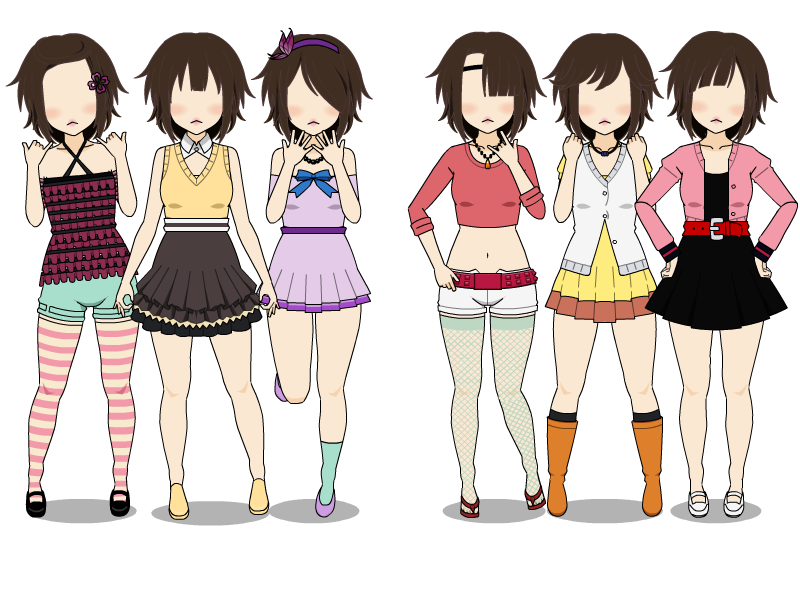 clip art royalty free library Drawing outfits spring. City girl casual by