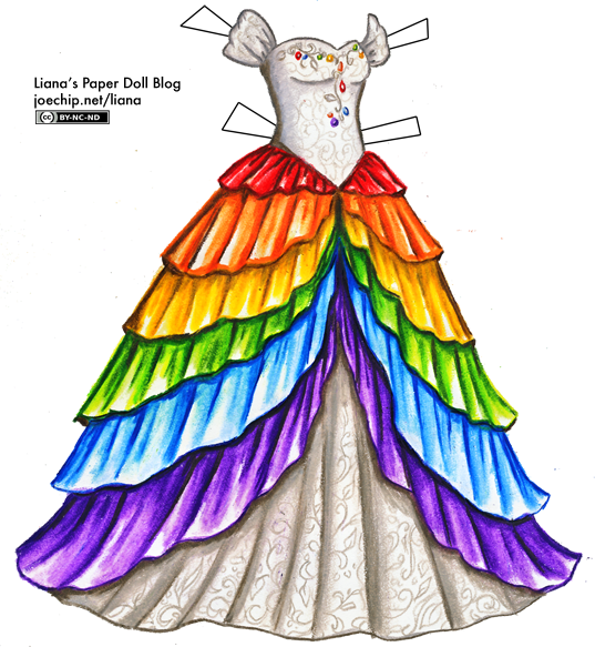 graphic free download White Princess Dress with Rainbow Skirt