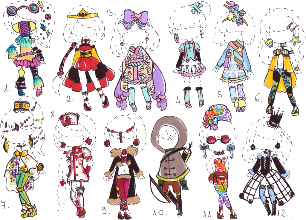 clipart transparent library Closed outfit adopt mix. Drawing random clothing
