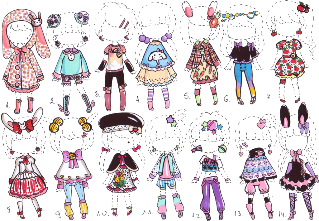 clip freeuse Drawing outfits cute. Closed outfit adopts by