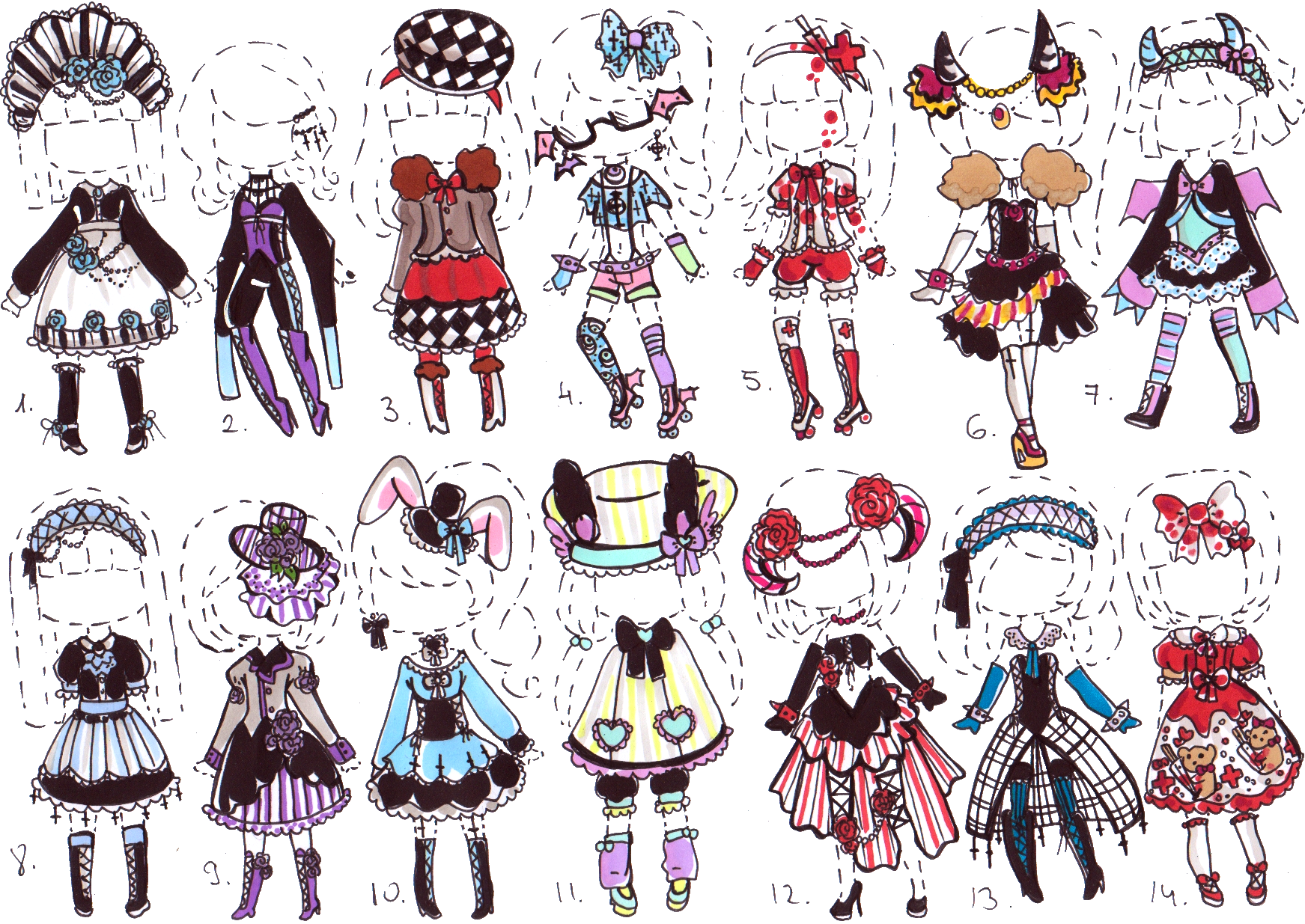 picture free  closed gothic outfit. Drawing outfits cute
