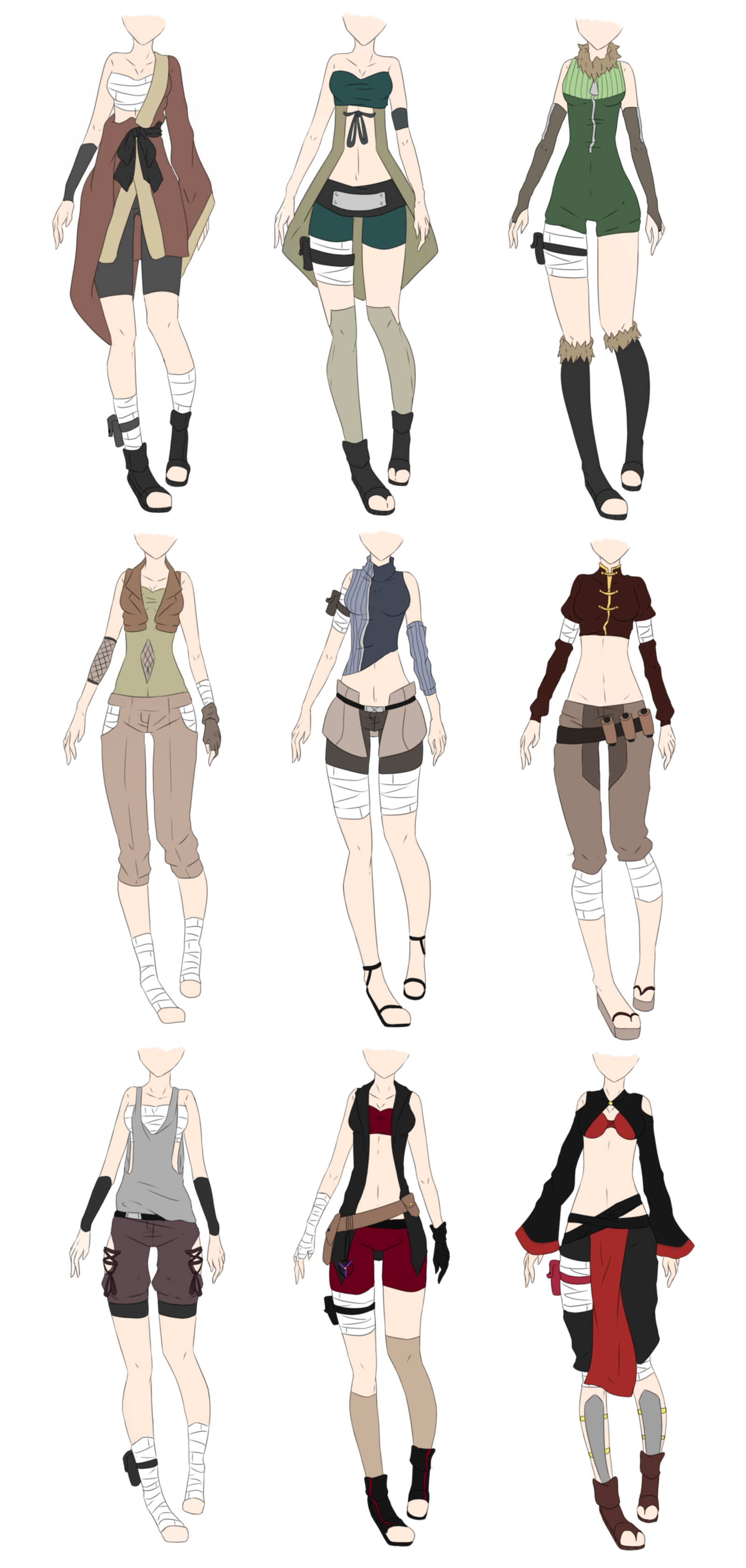 jpg transparent Naruto outfit adoptables closed. Drawing outfits female