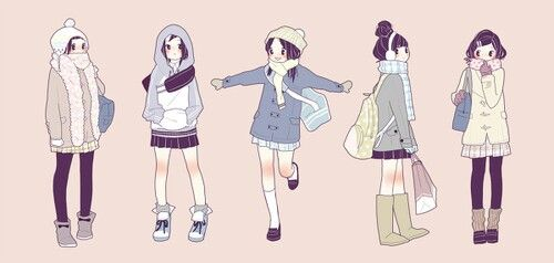 graphic download Clothes ideas for . Drawing outfits winter