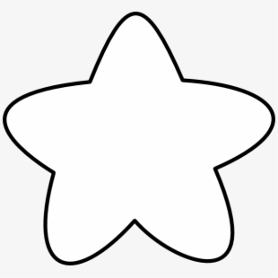picture free Free star black and. Outline clipart