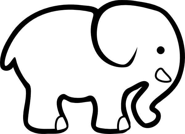 image royalty free download Elephant drawing indian panda. Outline clipart