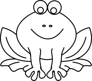 black and white stock Outline clipart. Frog
