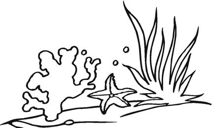 clipart black and white stock Outline clipart coral. Drawn ttc art file