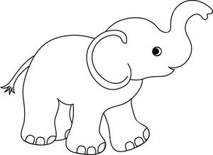 graphic transparent library Baby elephant clipart outline. Pin by carolyn rey