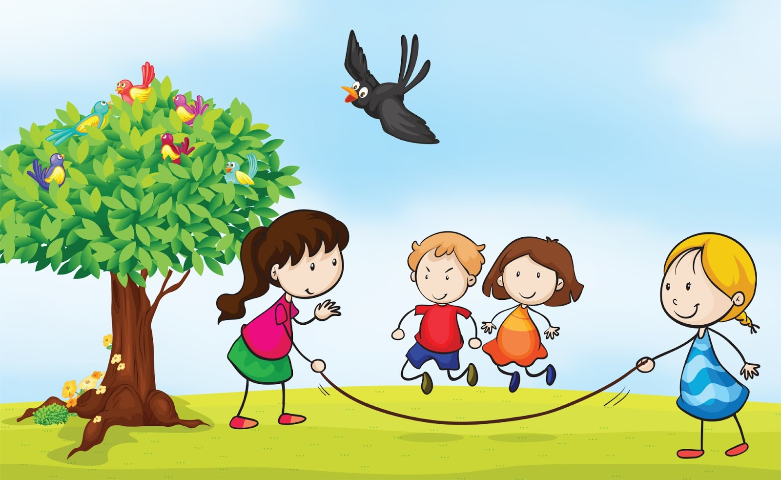 picture transparent library Kids playing outside clipart. Free cliparts download clip
