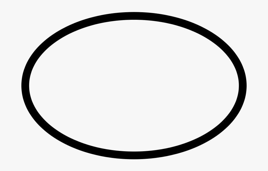 png royalty free stock Black and white circle. Oval clipart