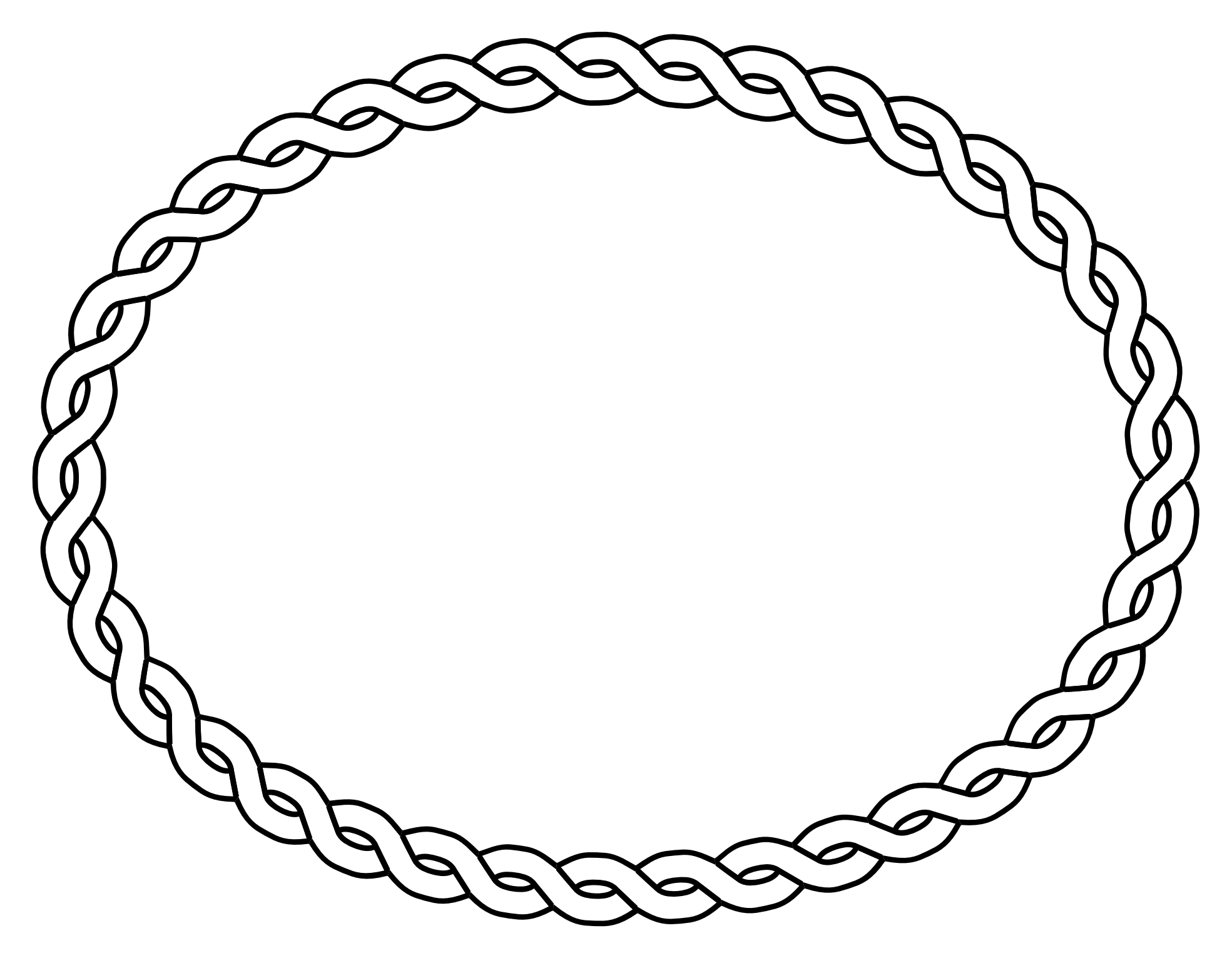 clip art free download Free clipart borders and lines. Oval frame black white