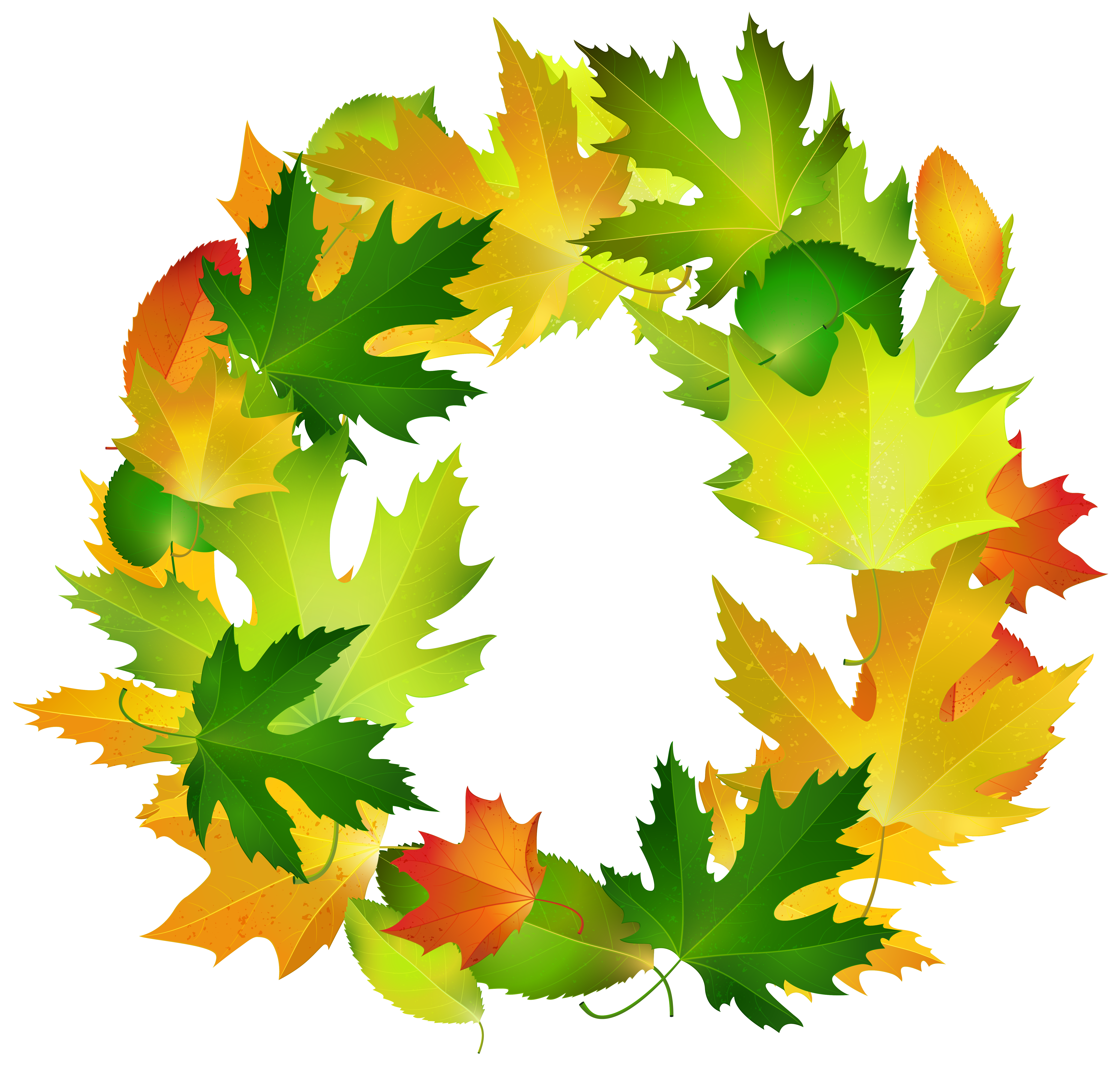 banner royalty free Leaves oval frame png. Fall leaf border clipart