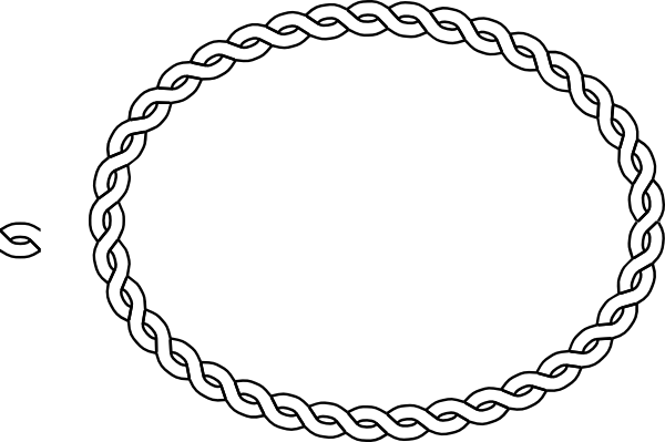 image black and white stock Oval Rope Border Clip Art at Clker
