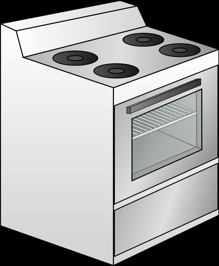 black and white download Oven clip art free. Kitchen stove clipart