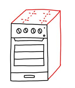 clip art royalty free Oven drawing. How to doodle iq