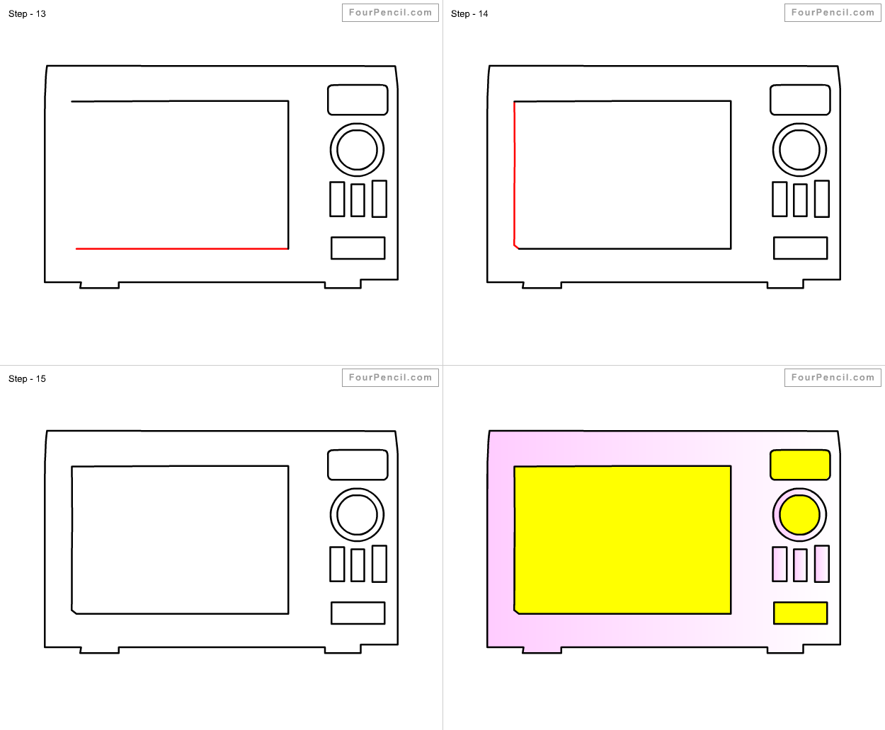 banner Oven drawing. How to draw for