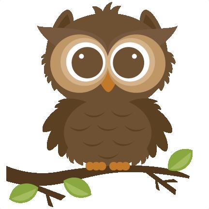 vector Cute fall . Owl clipart.