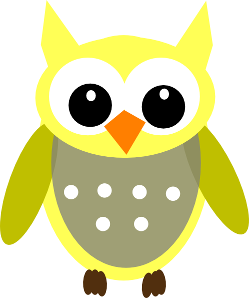 clip art transparent download Cute cartoon owls yellow. Drawing owl adorable