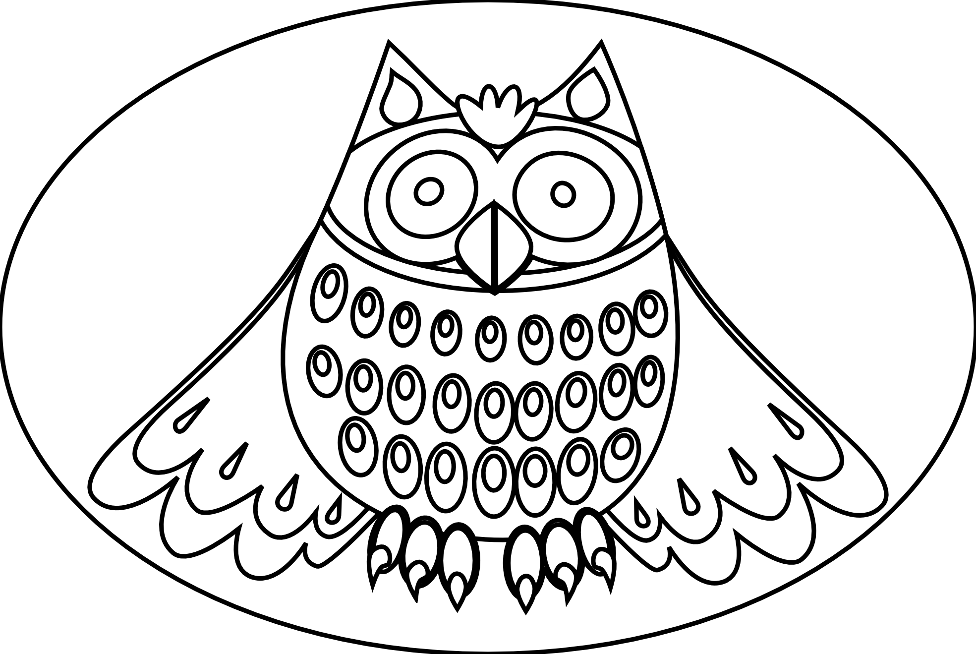 jpg black and white download Realistic owl at getdrawings. Drawing owls beginner