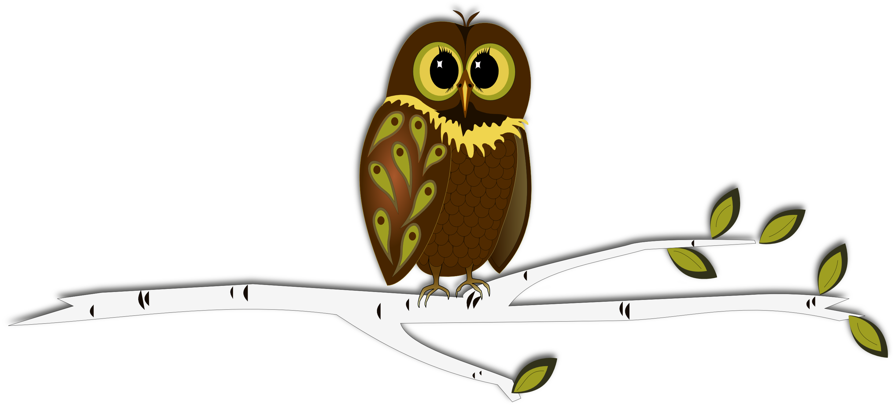 graphic transparent library Inkscape into autumn free. Drawing owl tree