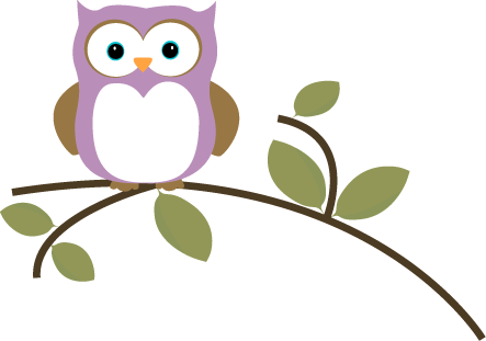 vector download Cute Owl On Branch Clipart