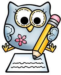 banner freeuse Clip art library . Owl writing clipart