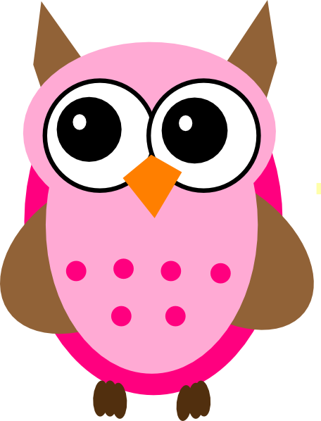 jpg library stock Owl writing clipart. Owls pink frames illustrations