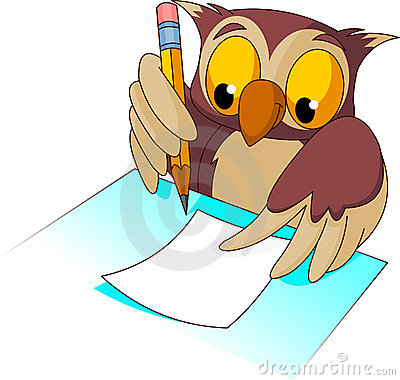 graphic free library Owl writing clipart. Portal