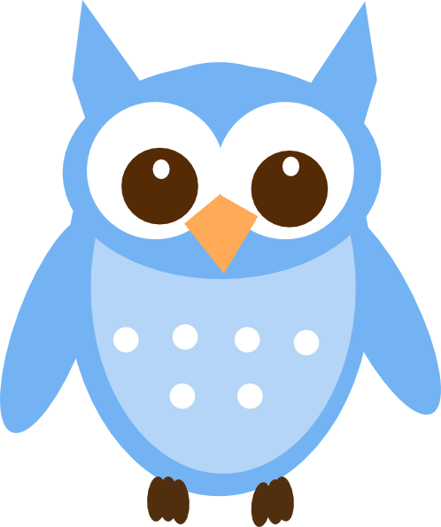 graphic free download Baby blue owl clip. Owls clipart.