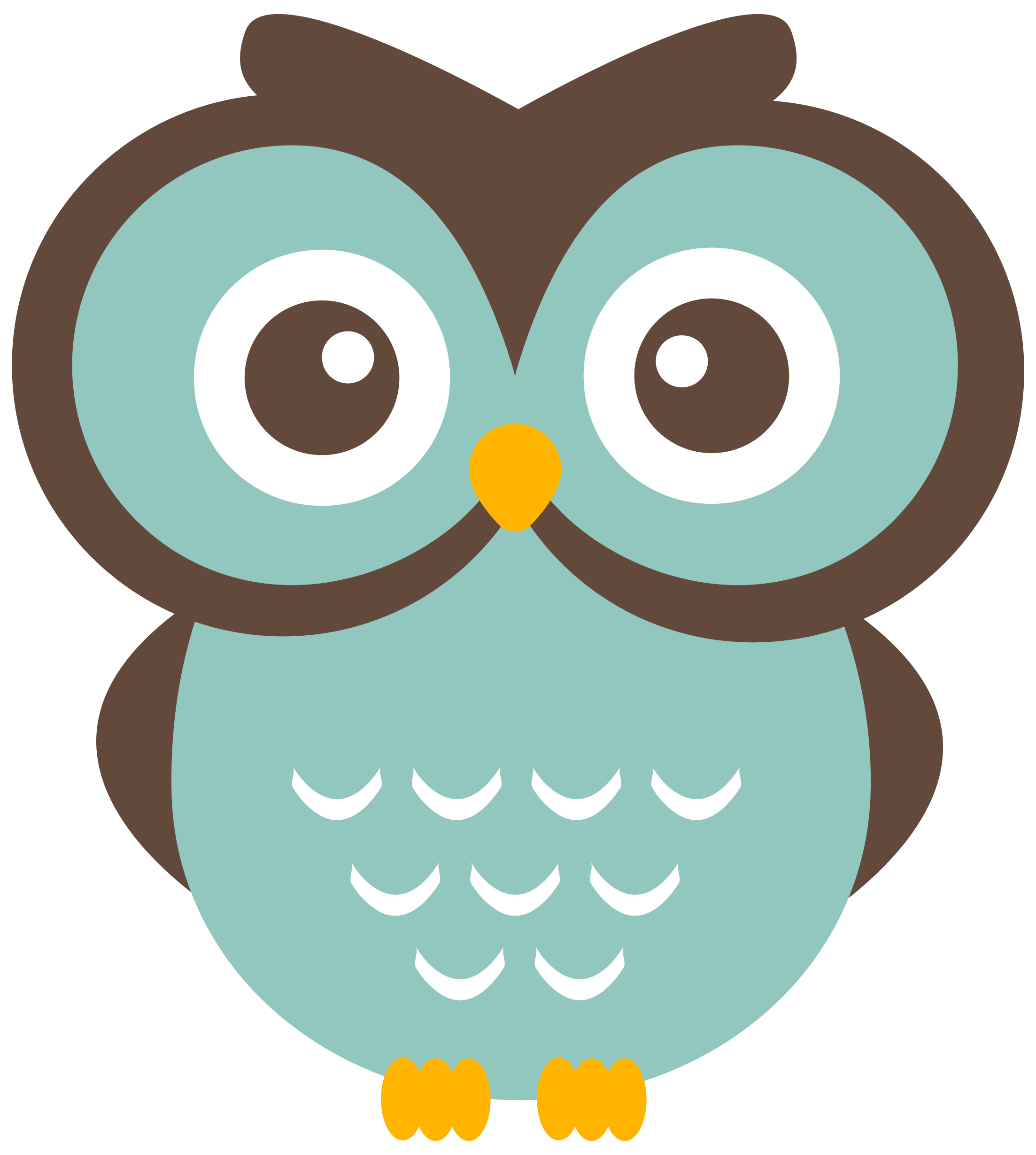 vector royalty free library Owls clipart. Teal owl free download.