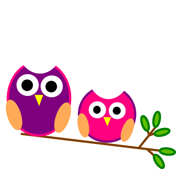 svg download Cute pink and clip. Owls clipart purple