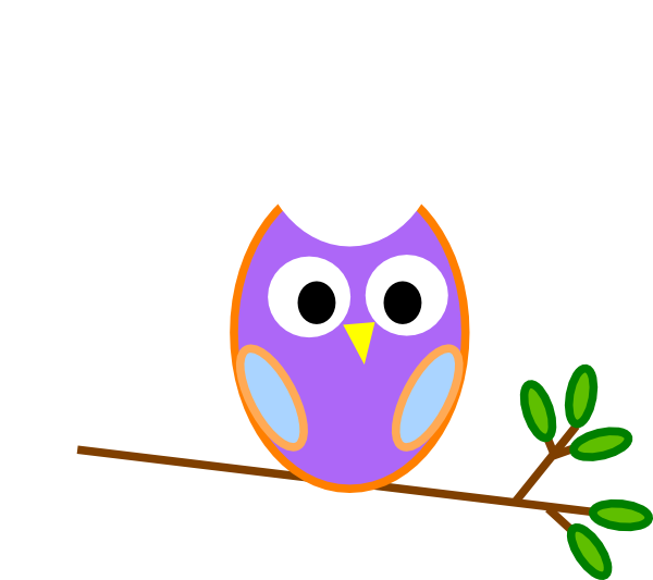 jpg black and white Owls clipart purple. Owl clip art at