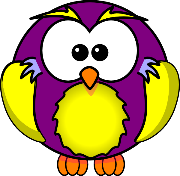 clip art freeuse library Owls clipart purple. Gold and owl clip