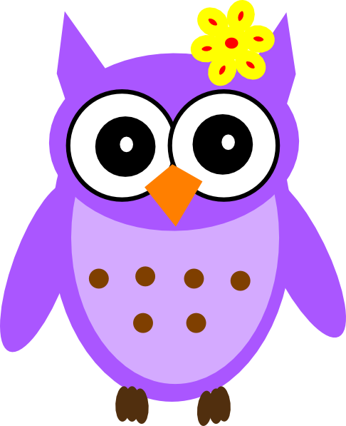 svg freeuse Owls clipart purple. Baby girl owl clip