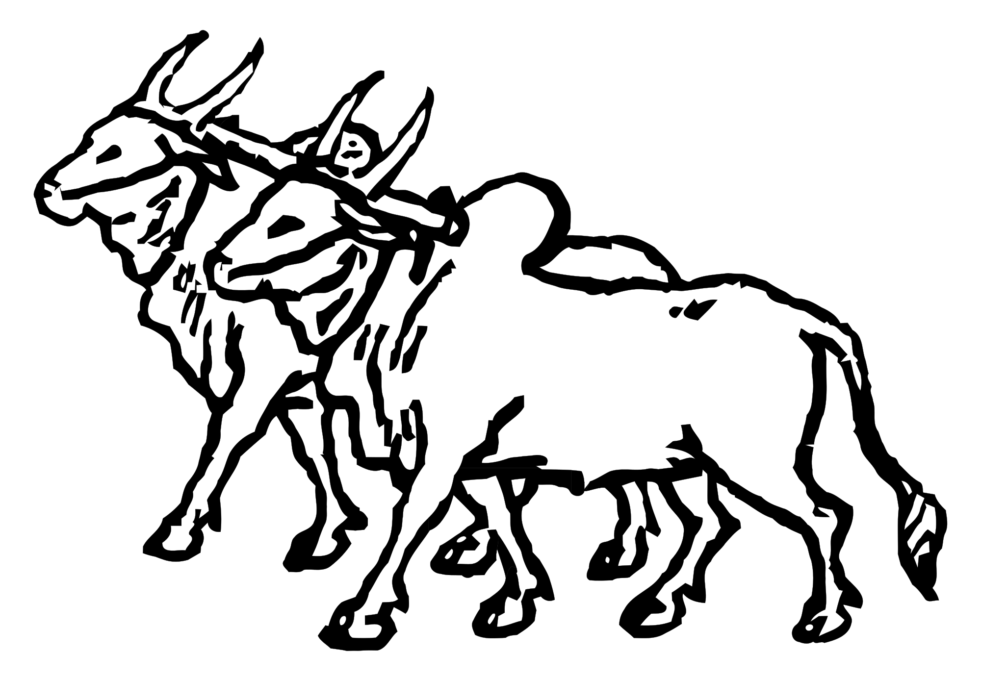 png black and white download Oxen Drawing at GetDrawings