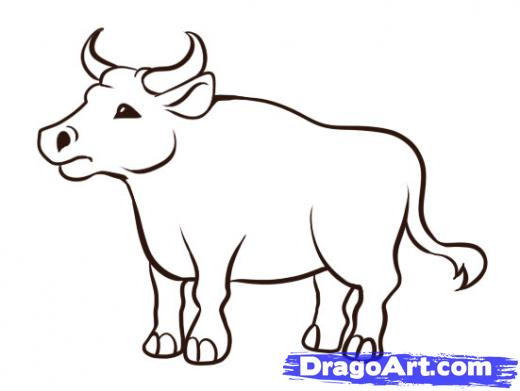 clipart free Ox Drawing