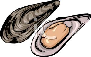 svg black and white library Oyster clipart. Clip art free panda