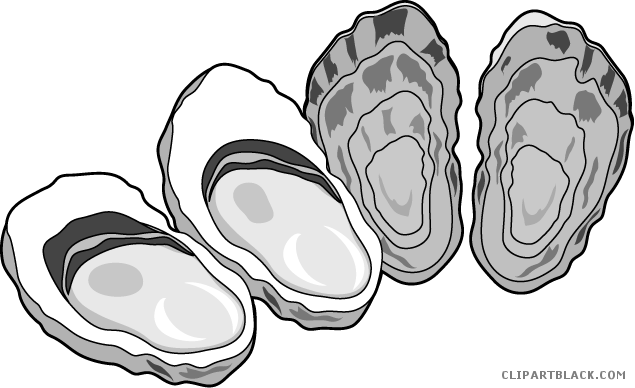 png royalty free library Oyster vector black and white. Clipart page of clipartblack