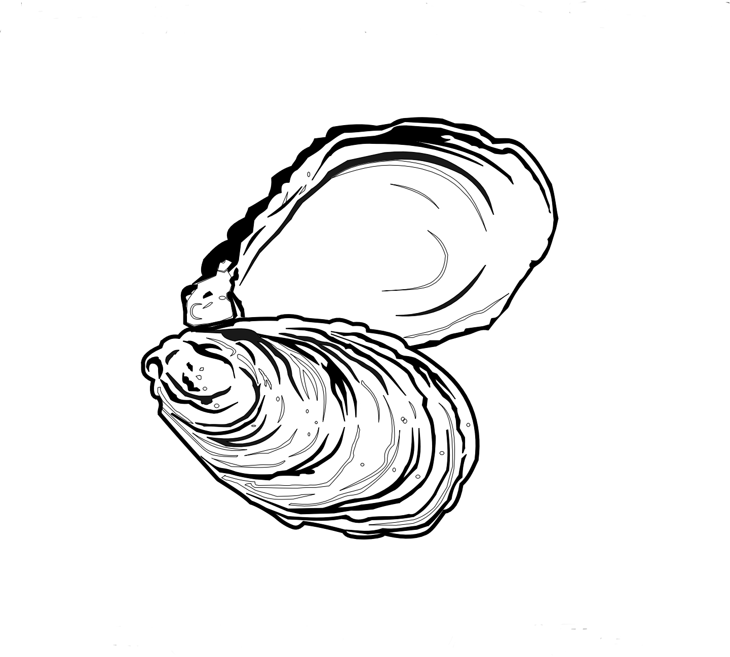 banner library stock Oyster clipart black and white. Station .