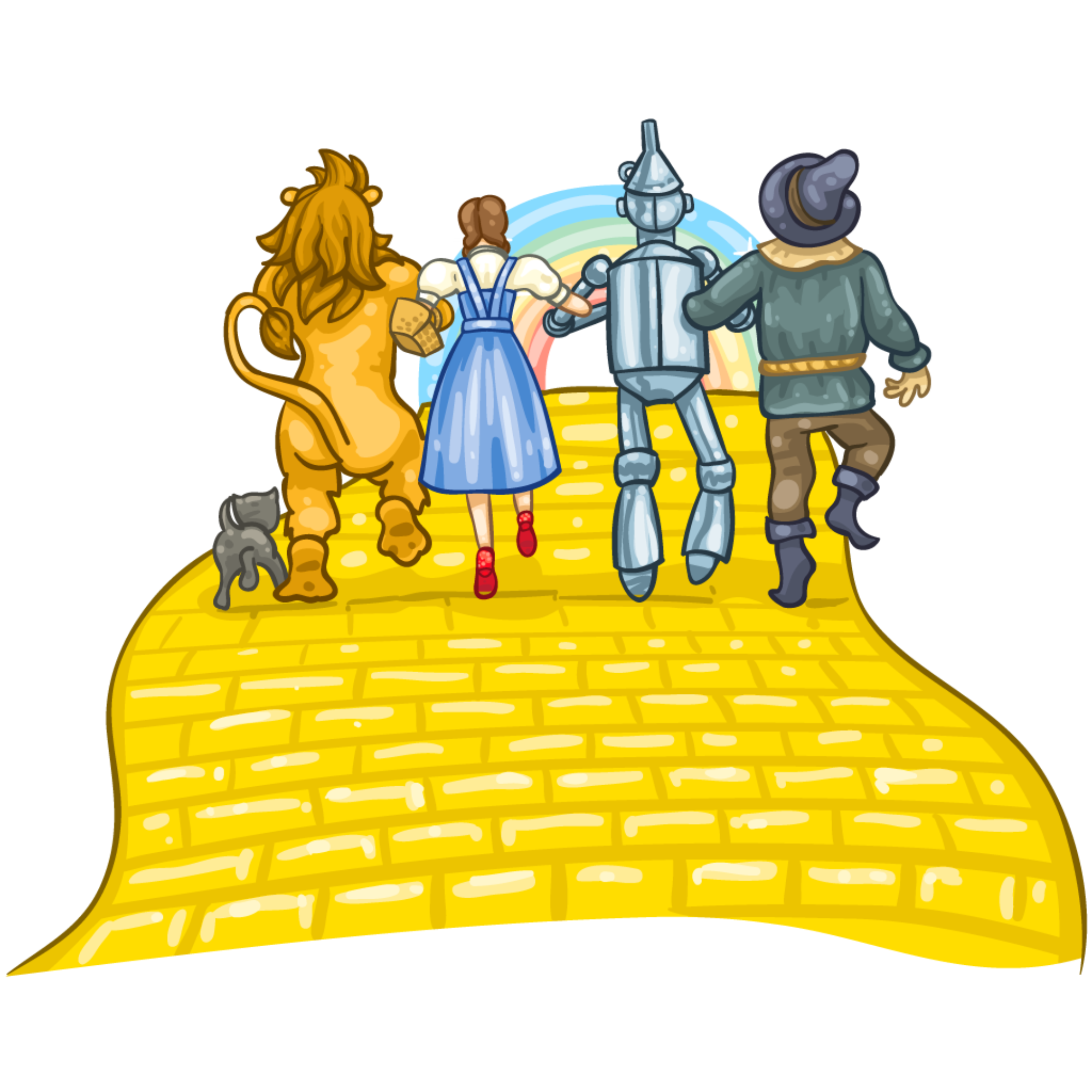 jpg freeuse Wizard of yellow brick. Oz clipart.