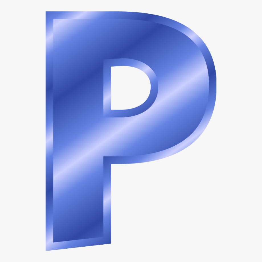 free library P clipart. Alphabet letter blue free.