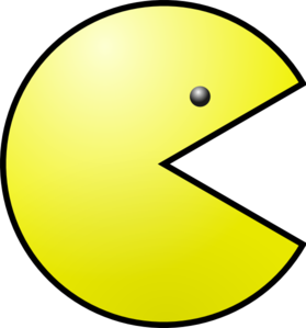 clipart free stock Yellow clip art at. Pacman clipart.