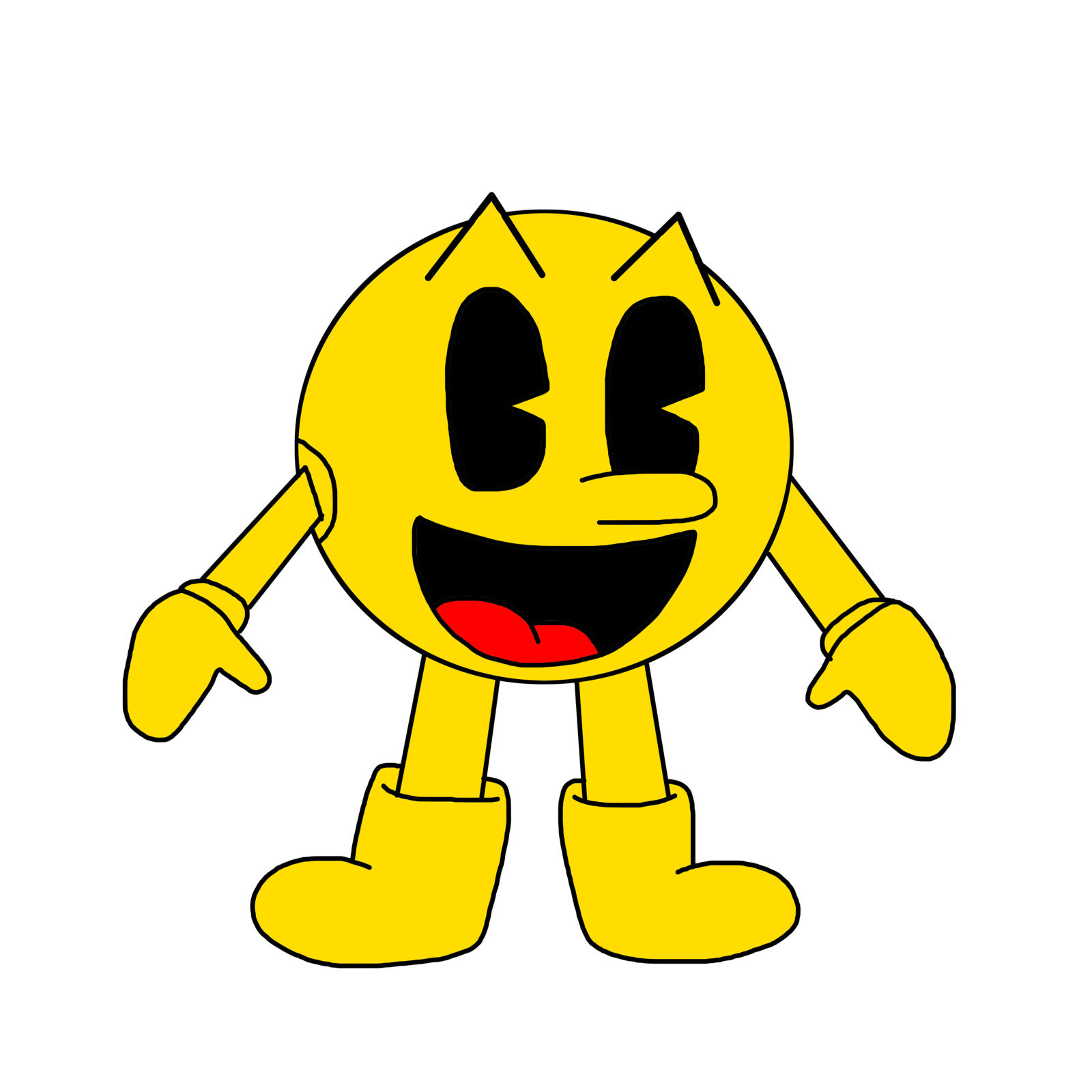 clipart transparent library pacman drawing cartoon #100766810