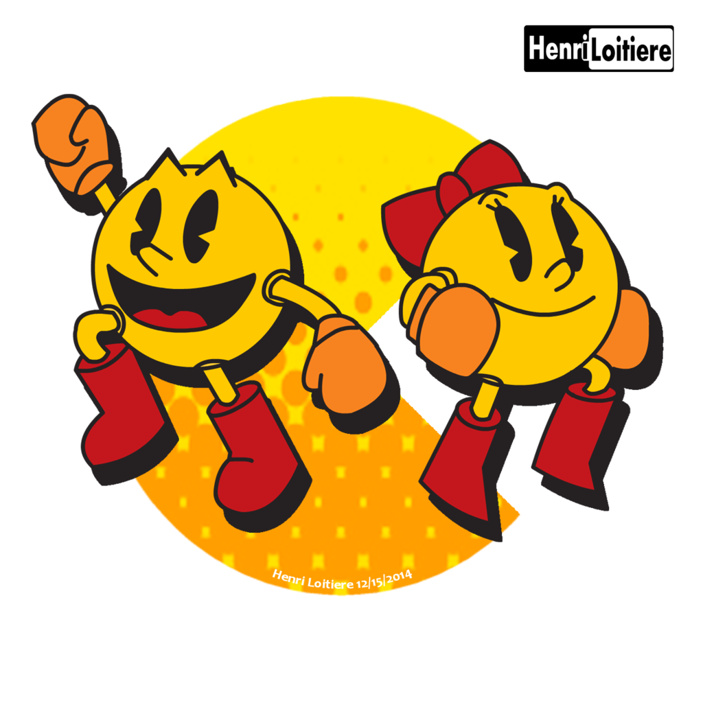 clipart pacman drawing original #100765867