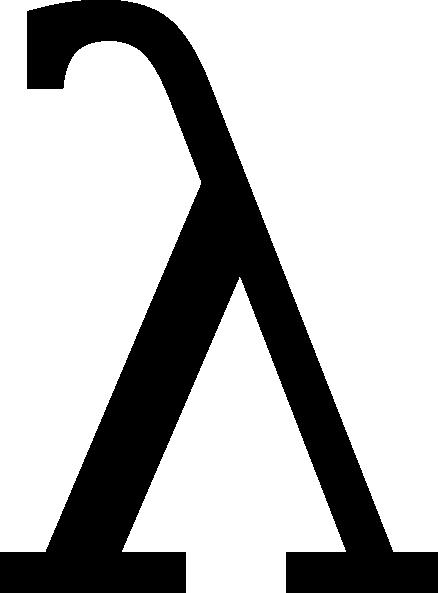 vector black and white stock lambda greek letter