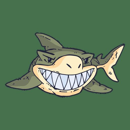png black and white stock Shark fish cartoon