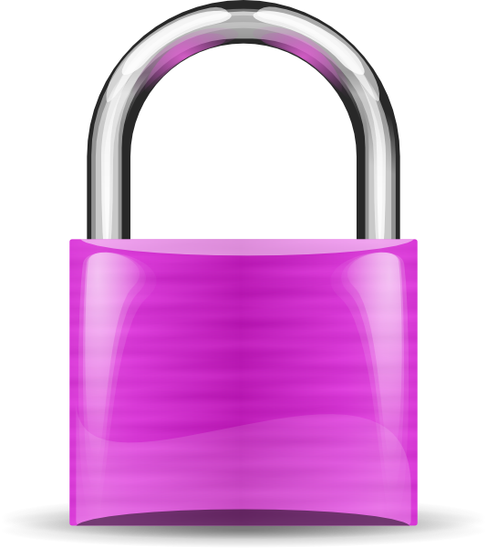 clipart library library Violet clip art at. Padlock clipart